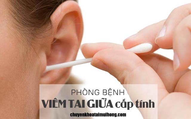 Cách phòng bệnh viêm tai giữa cấp tính