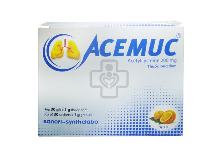 Một số lưu ý khi sử dụngThuốc ho Acemuc
