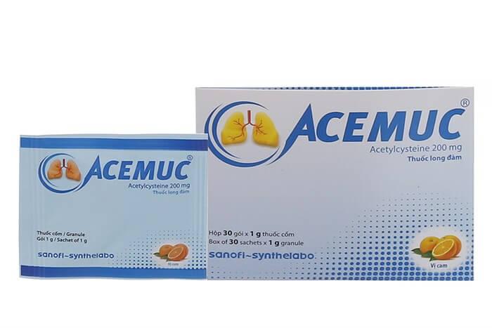 Công dụng củaThuốc ho Acemuc
