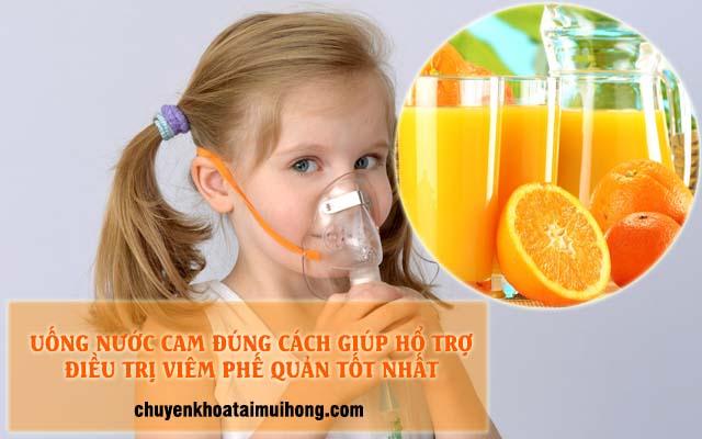 Uống nước cam đúng cách giúp hỗ trợ điều trị bệnh viêm phế quản