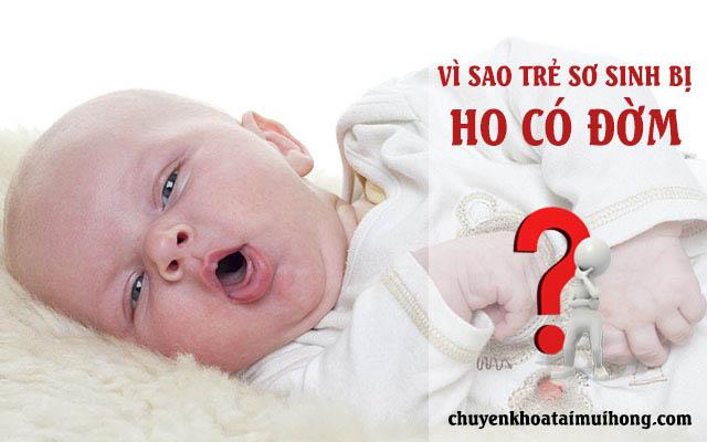Vì sao trẻ sơ sinh bị ho có đờm?