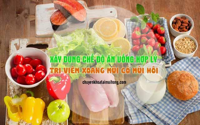 Dựng chế độ ăn uống hợp lý trị viêm xoang mũi có mùi hôi