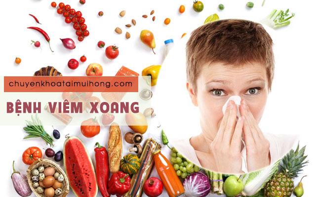Bệnh viêm xoang kiêng ăn gì và nên ăn gì?