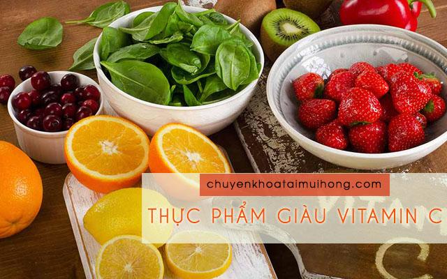 Bệnh nhân bị viêm xoang nên ăn nhiều thực phẩm giàu vitamin C