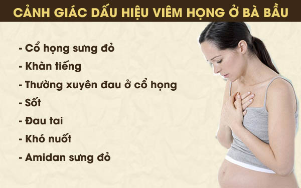 Các triệu chứng khi bị viêm họng của bà bầu