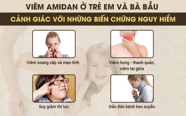 Mẹ và bé cần cảnh giác với những biến chứng của bệnh viêm amidan