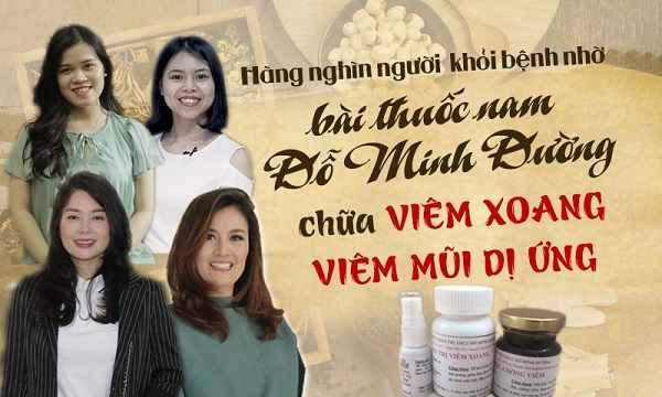 Bài thuốc viêm xoang Đỗ Minh đã giúp nhiều người khỏi bệnh