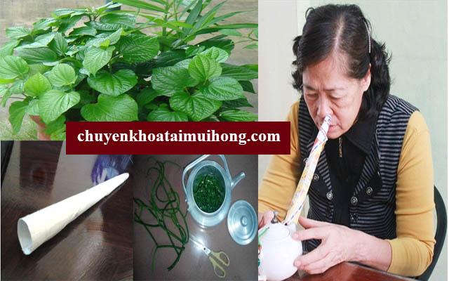 Sử dụng lá lốt xông hơi giúp trị viêm xoang mũi