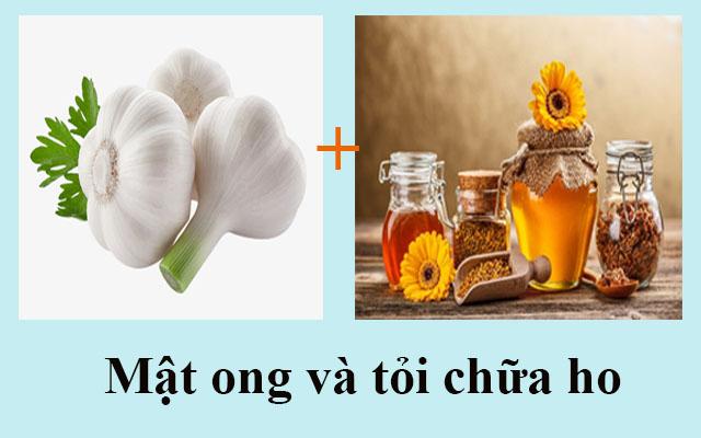 Phương pháp chữa ho bằng mật ong và củ tỏi