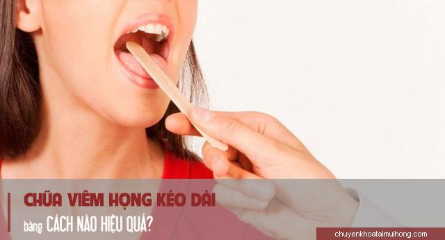 Cách chữa viêm họng kéo dài