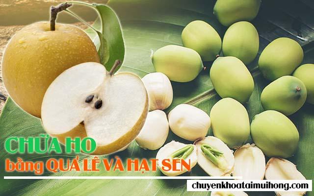 Dùng quả lê và hạt sen chữa ho