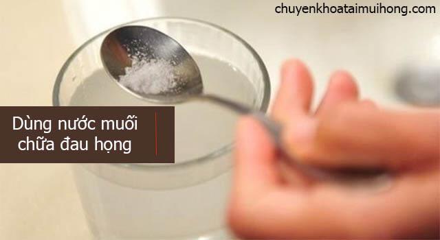 nước muối chữa đau họng