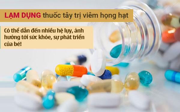 Cha mẹ cần thận trọng khi chữa viêm họng ở trẻ em bằng thuốc Tây