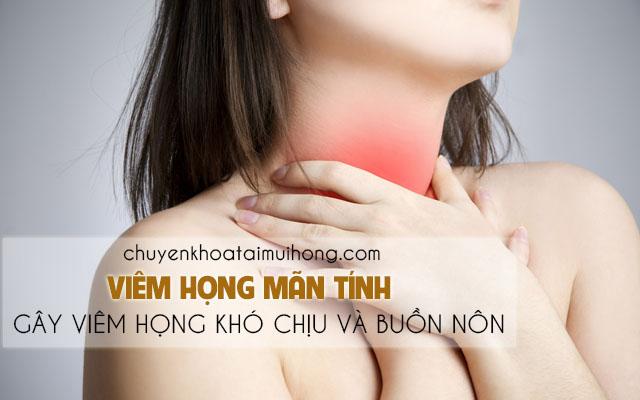 Viêm họng buồn nôn do các bệnh về đường hô hấp