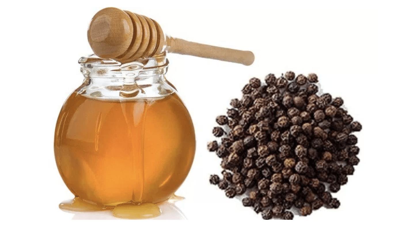 chữa viêm họng bằng mật ong và tiêu đen