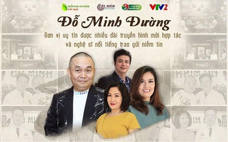 Nhà thuốc Đỗ Minh Đường đồng hành cùng nhiều nghệ sỹ và chương trình truyền hình chăm sóc sức khỏe