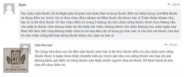 Chia sẻ của chị Ngân gửi về hòm thư lienhe@dominhduong.com