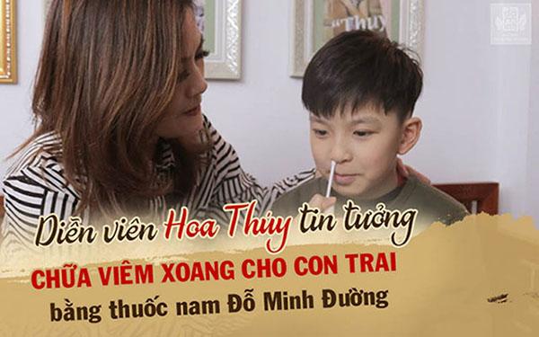 Nữ diễn viên Hoa Thúy và con trai điều trị viêm xoang, viêm họng bằng bài thuốc nam Đỗ Minh