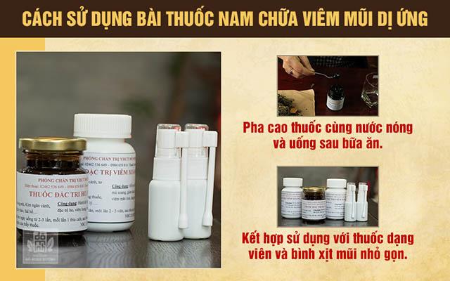 Cách sử dụng bài thuốc nam chữa viêm mũi dị ứng của nhà thuốc Đỗ Minh Đường