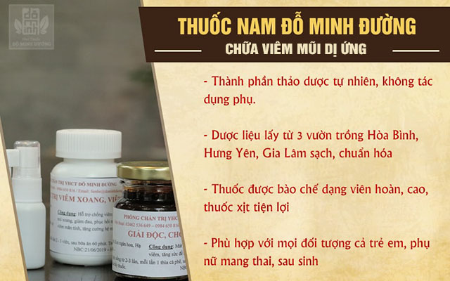 Ưu điểm thuốc nam chữa viêm mũi dị ứng của Đỗ Minh Đường