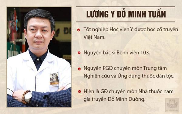 Lương y Đỗ Minh Tuấn đã có hơn 20 năm kinh nghiệm trong nghề