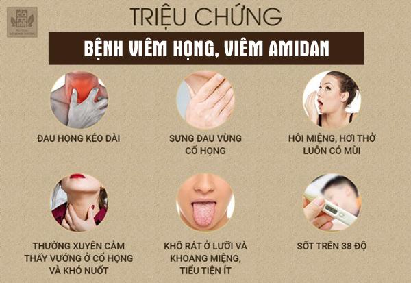 Triệu chứng điển hình bệnh viêm họng, viêm amidan khi giao mùa
