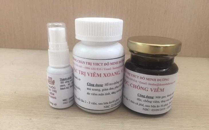 Đầy đủ 3 loại thuốc viêm xoang Đỗ Minh Đường mình dùng