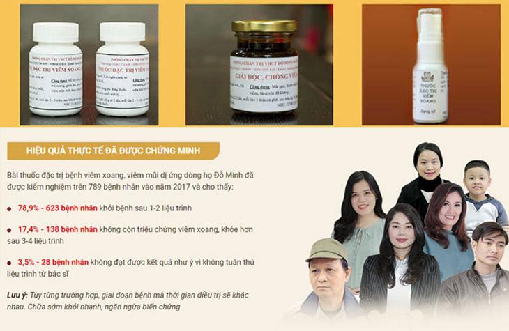 Nhiều bệnh nhân khỏi viêm xoang nhờ bài thuốc nam Đỗ Minh Đường