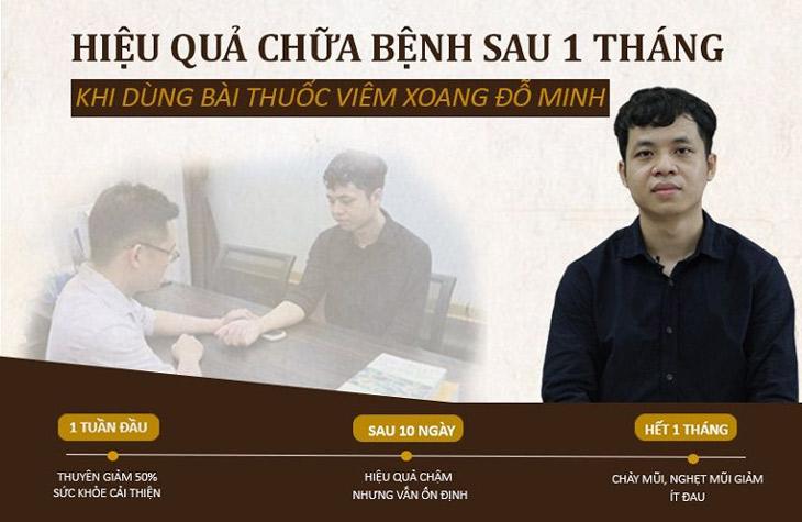 Hiệu quả chữa bệnh của anh Quang Linh (27 tuổi) bằng thuốc nam Đỗ Minh Đường
