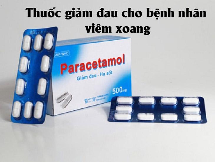 Paracetamol được sử dụng để giảm đau, hạ sốt ở bệnh nhân bị viêm xoang cấp tính